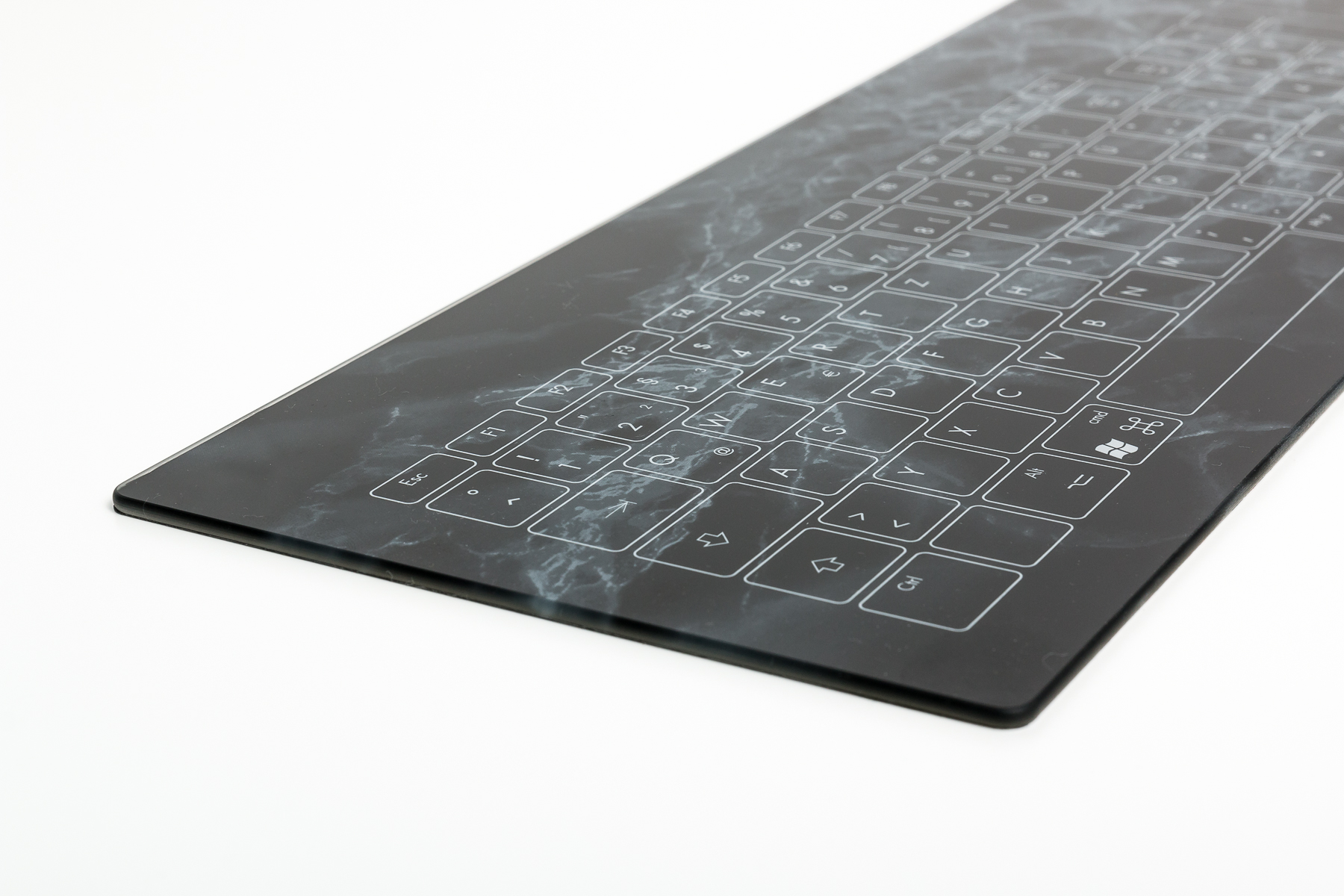Glastastatur in schwarz