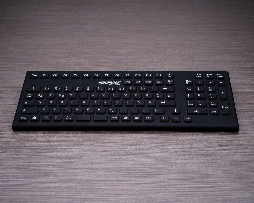 Schwarze Silikontastatur