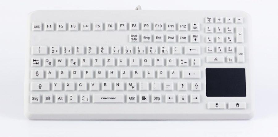 Silikontastatur mit Touch- und Numpad