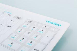 Cleankeys Tastatur für den professionellen Einsatz in Arztpraxen, Krankenhäusern, Laboren