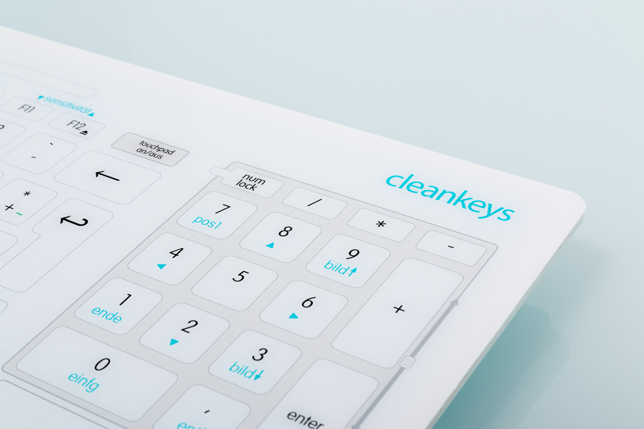 Glastastatur Cleankeys