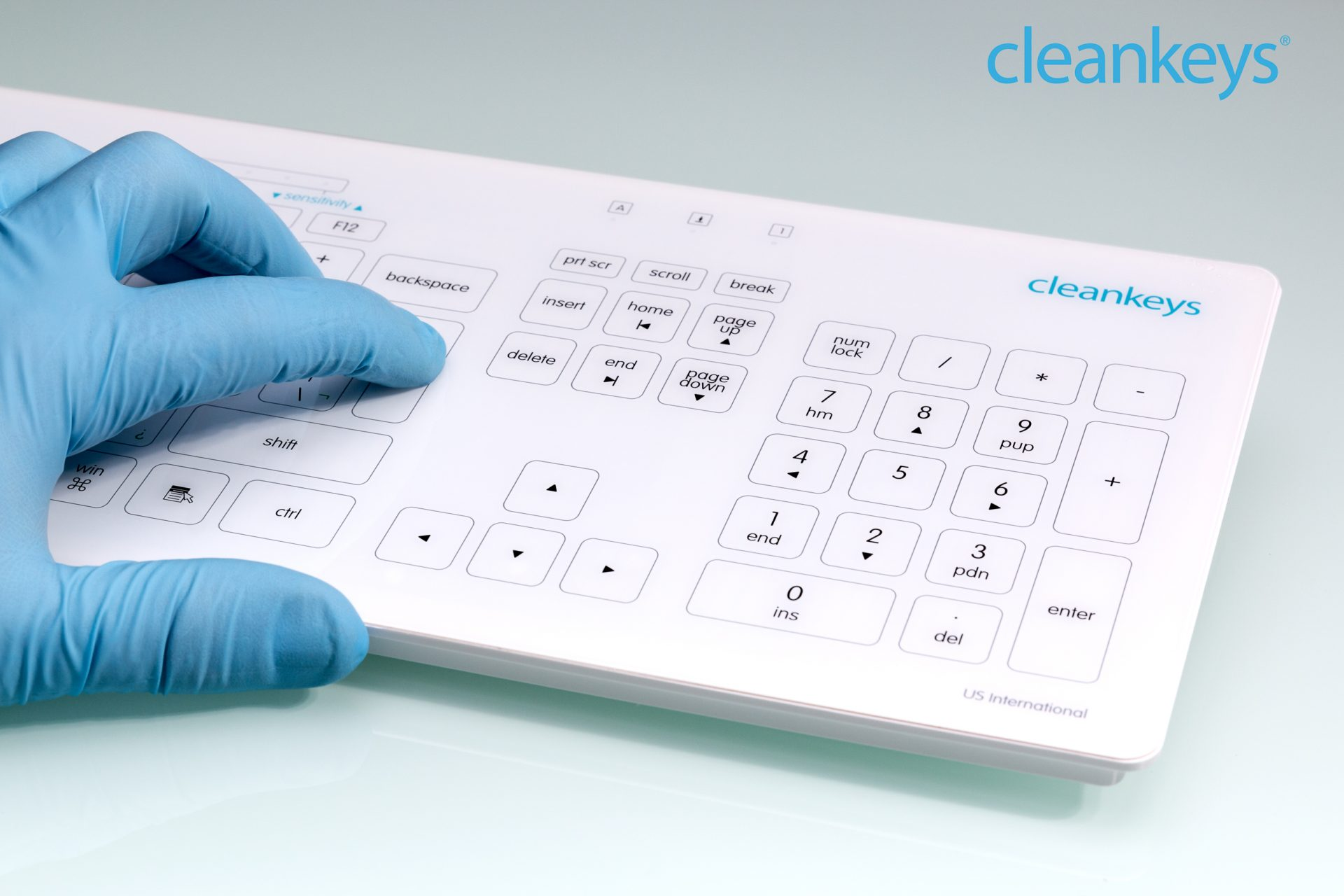 Cleankeys Glastastatur
