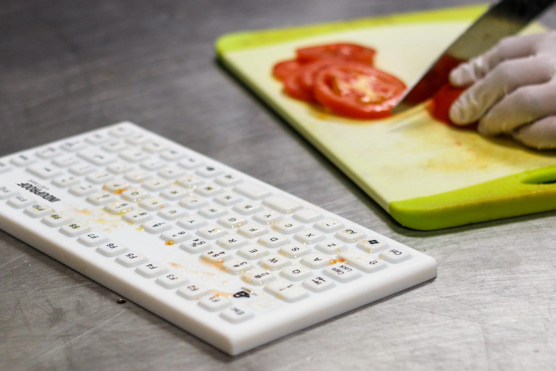 Wasserdichte, hygienische Tastatur aus Silikon