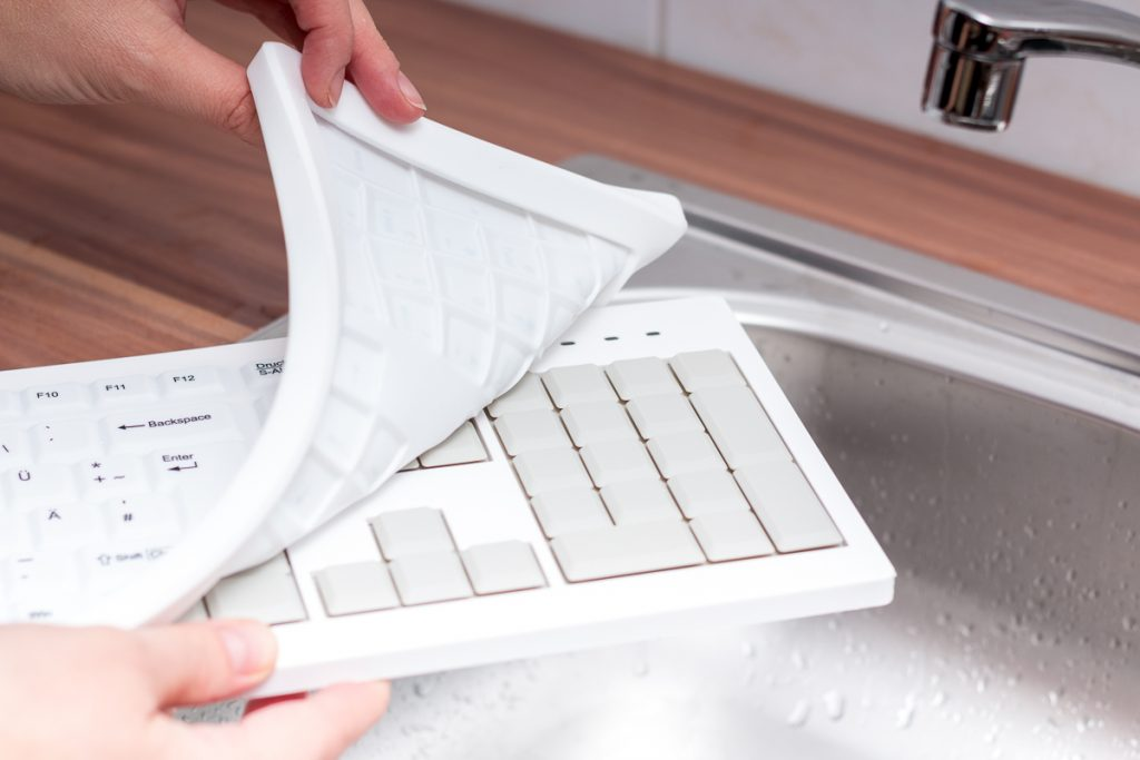 Silikontastatur mit abnehmbarer Silikonmatte