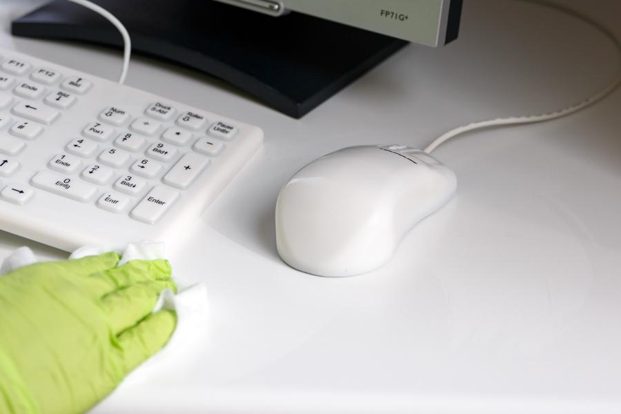 Tastatur aus Silikon mit abwaschbarer PC Maus