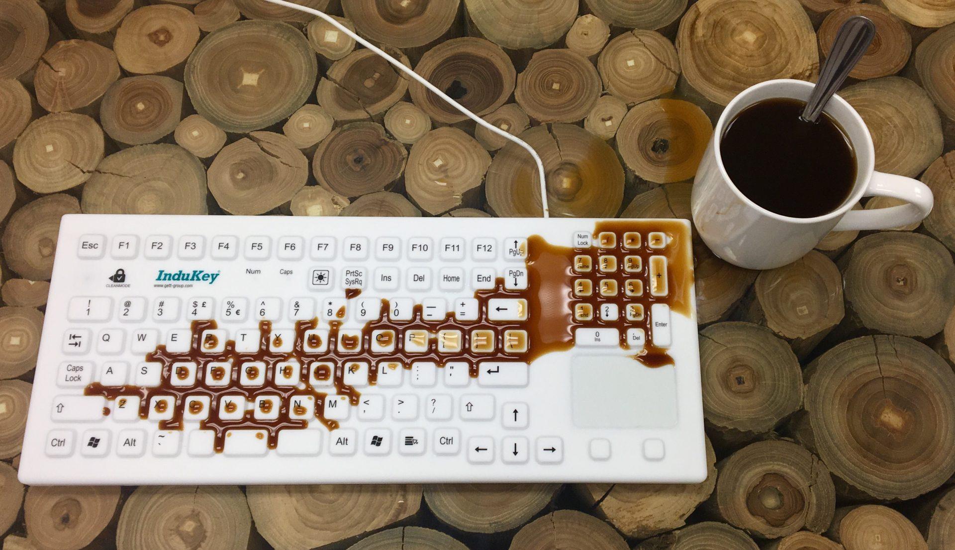 Hygienische Tastatur
