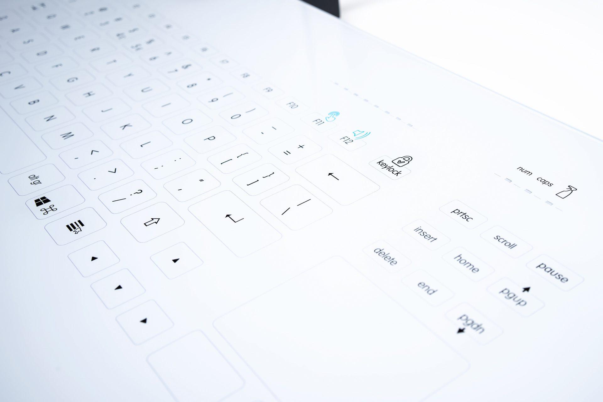 InduSense® OR Touch Glas-Tastatur