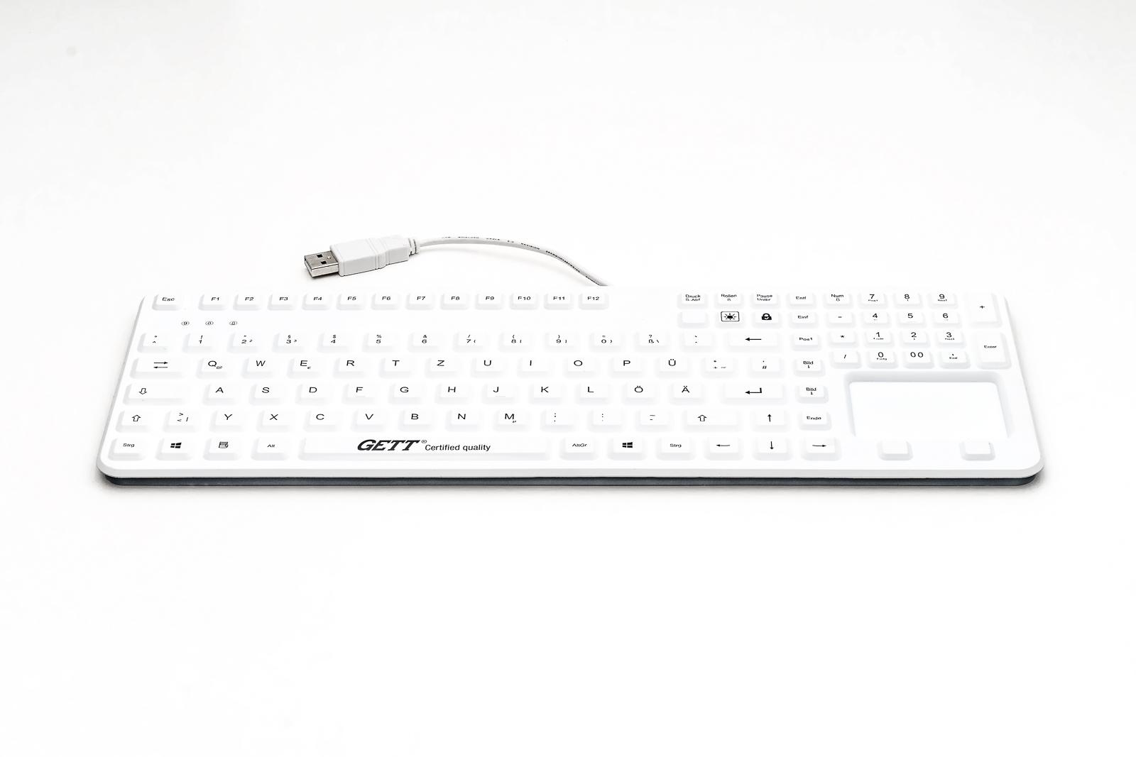 Silikon-Einbau-Tastatur-Cleantype-Prime-Panel