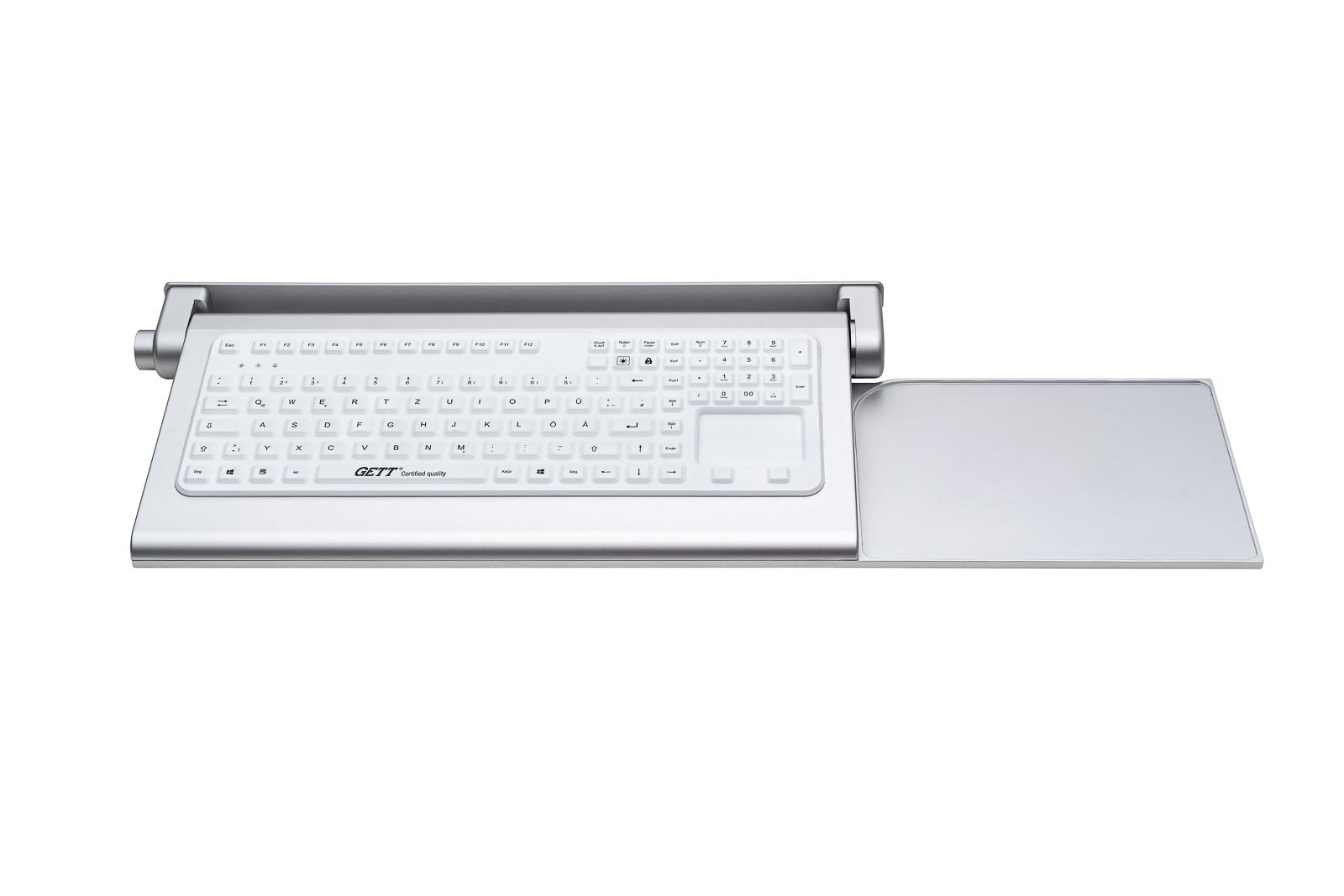 Silikontastatur in klappbarem Aluminium-Panel