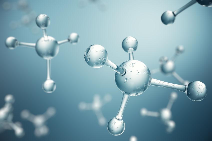 3D illustration molecules. Atoms bacgkround. Medical background for banner or flyer. Molecular structure at the atomic level